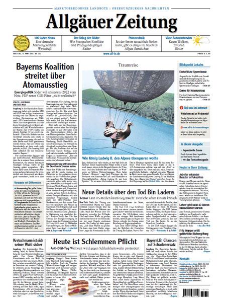 Allgäuer Zeitung - Ausgabe Marktoberdorf gratis probelesen