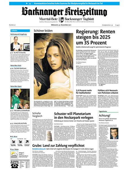 Backnanger Kreiszeitung gratis probelesen