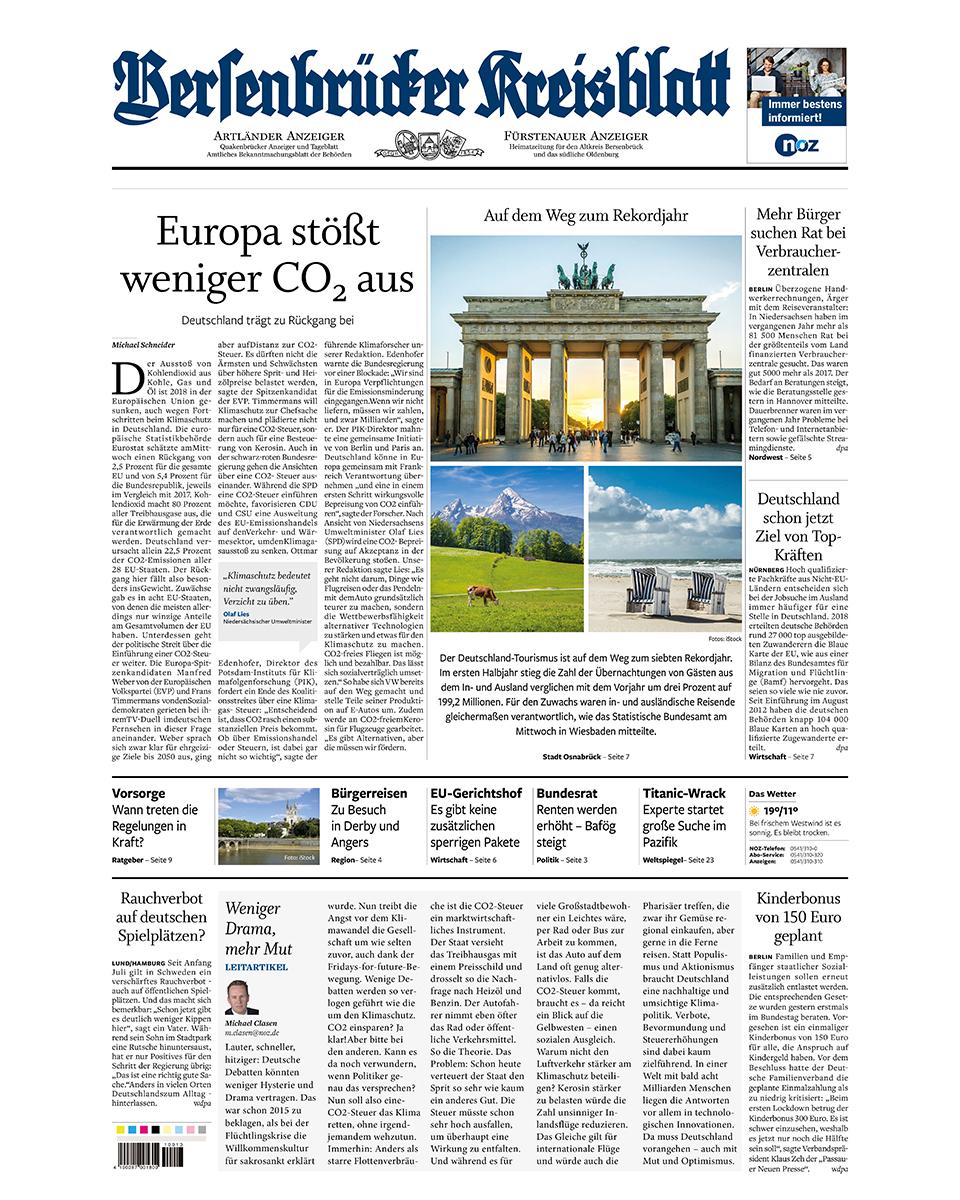 Bersenbrücker Kreisblatt gratis probelesen