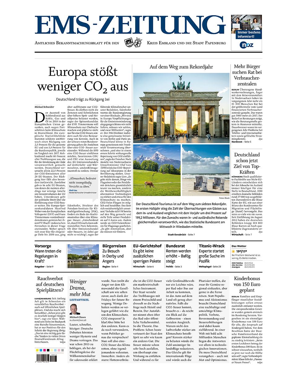 Ems-Zeitung gratis probelesen