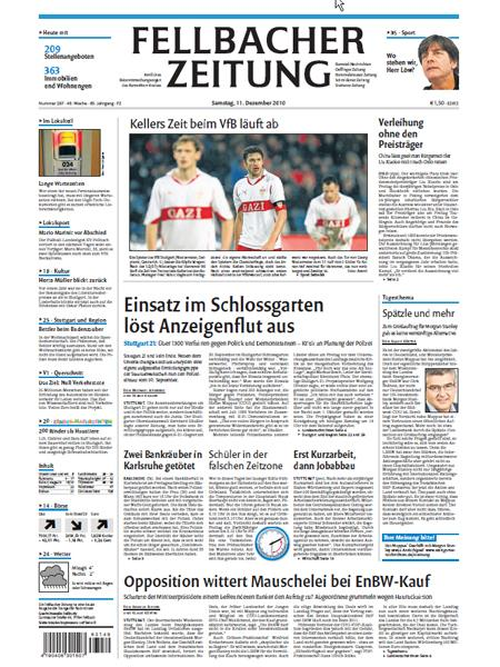 Fellbacher Zeitung gratis probelesen