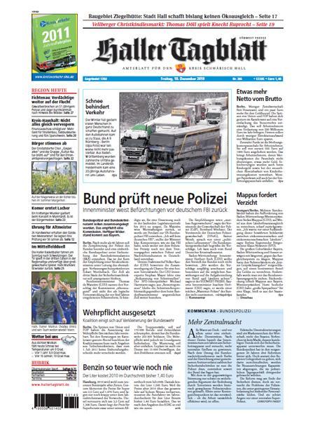 Haller Tagblatt gratis probelesen