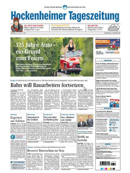 Hockenheimer Tageszeitung gratis probelesen