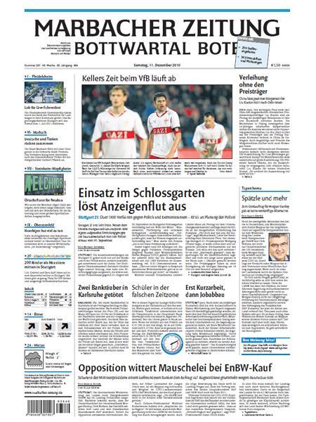 Marbacher Zeitung gratis probelesen