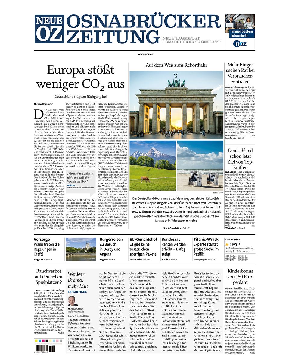 Neue Osnabrücker Zeitung gratis probelesen