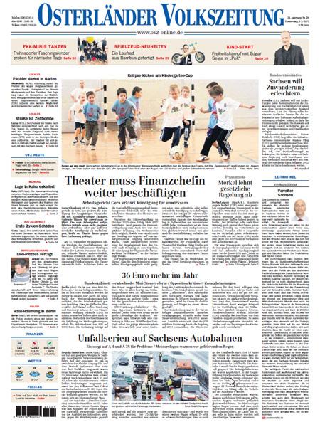 Osterländer Volkszeitung gratis probelesen
