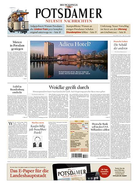 Potsdamer Neueste Nachrichten gratis probelesen