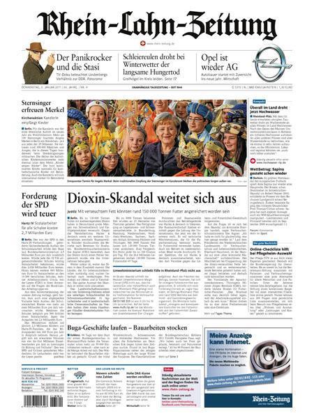 Rhein-Lahn-Zeitung gratis probelesen