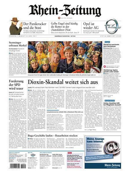 Rhein-Zeitung Region Neuwied und Linz gratis probelesen