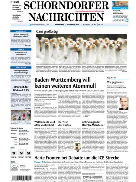 Schorndorfer Nachrichten gratis probelesen