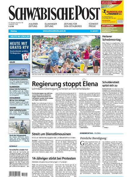 Schwäbische Post gratis probelesen