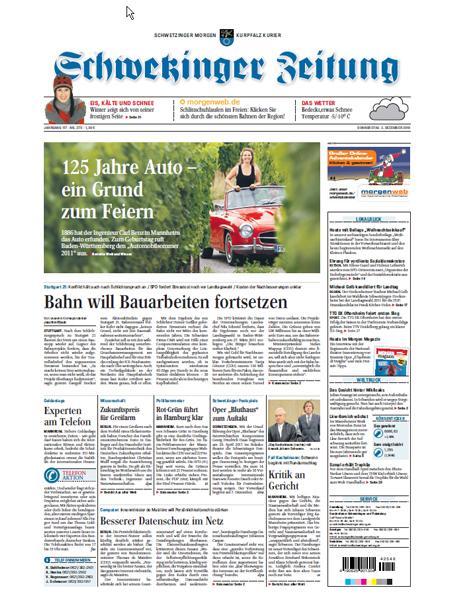 Schwetzinger Zeitung gratis probelesen