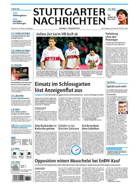 Stuttgarter Nachrichten gratis probelesen
