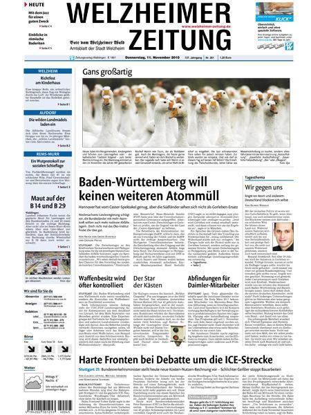 Welzheimer Zeitung gratis probelesen