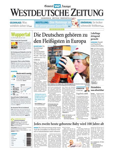 Westdeutsche Zeitung - General Anzeiger gratis probelesen